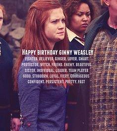 Happy Birthday Ginny Weasley!