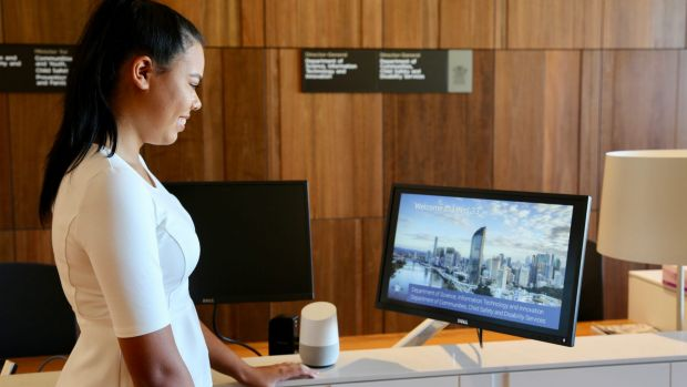 Robot to greet visitors to Queensland government office