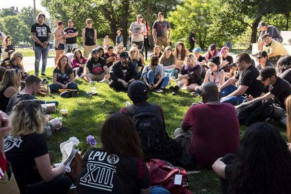 Fans gather at Boston Common to remember Linkin Park singer