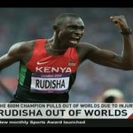 The 800M Champion David Rudisha pulls out of Worlds due to injury