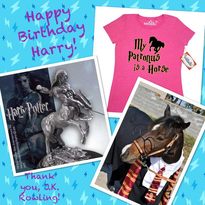 Happy Birthday to Harry Potter! Check out Harry TROTTER in the pic, too!