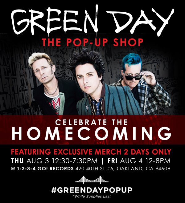 RT @GreenDay: @1234gorecords #greendaypopup https://t.co/n8WceM7Qqb