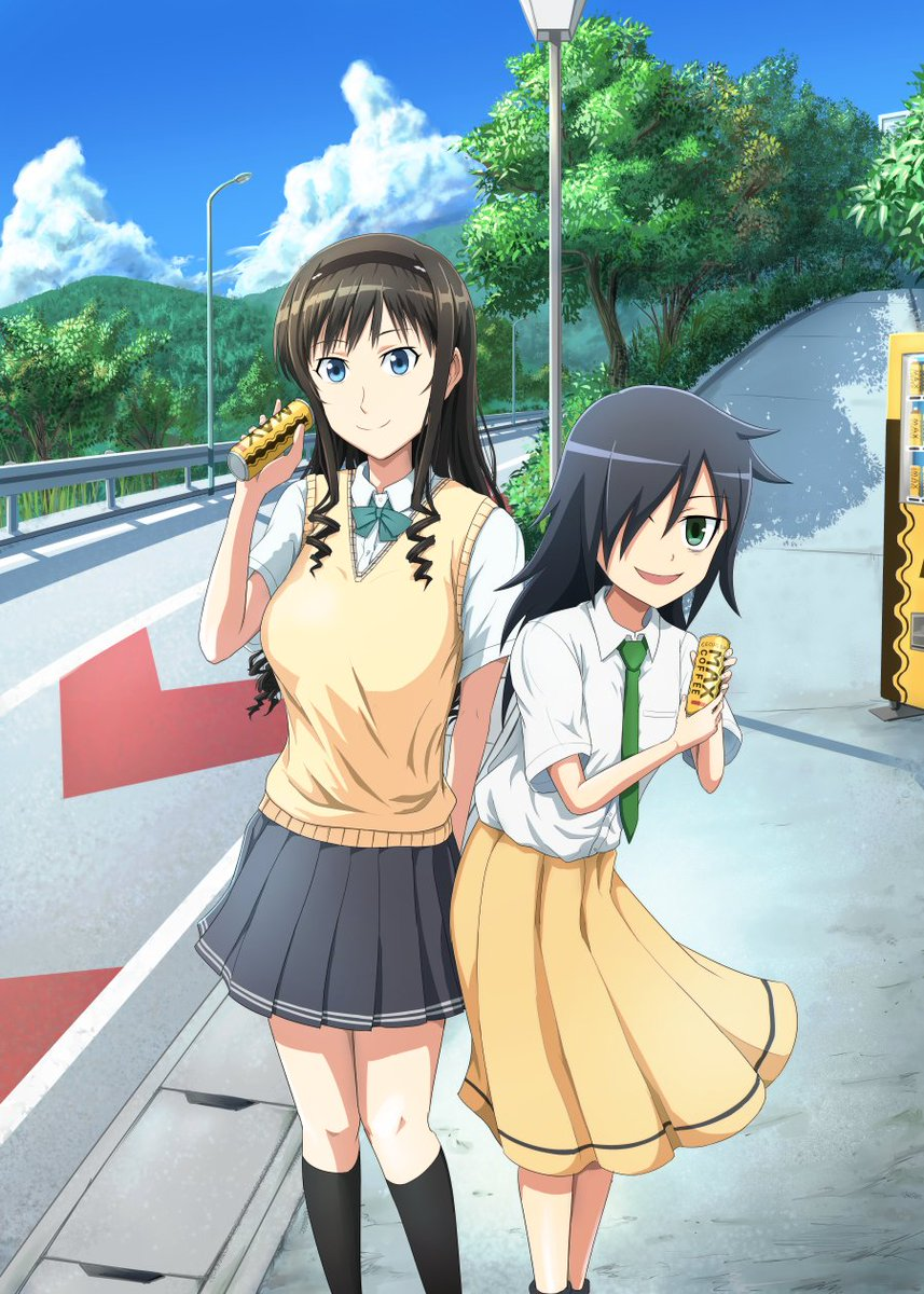 千葉が舞台になった『ワタモテ』と『アマガミ』でちばらぎ御用達のマックスコーヒーの絵を描きました!