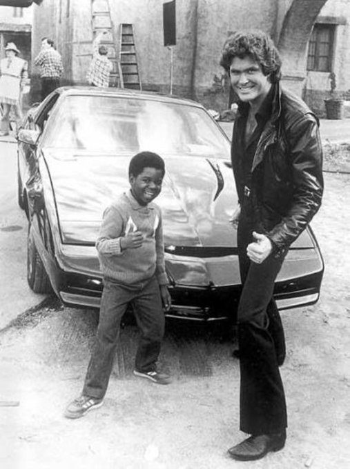 Happy Birthday Here\s a photo of David Hasselhoff and Gary Coleman.