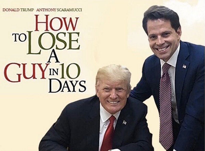 Kate Hudson jumps on the Scaramucci 'How to Lose a Guy in 10 Days' meme