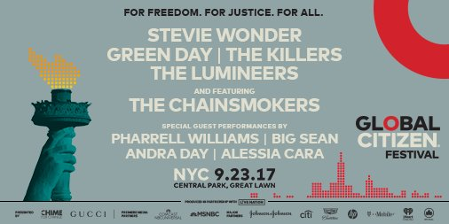 Come see us play in Central Park at #GCFest by taking action on the @glblctzn app now. https://t.co/I7BjkkmE2p https://t.co/C7qnfplWT2