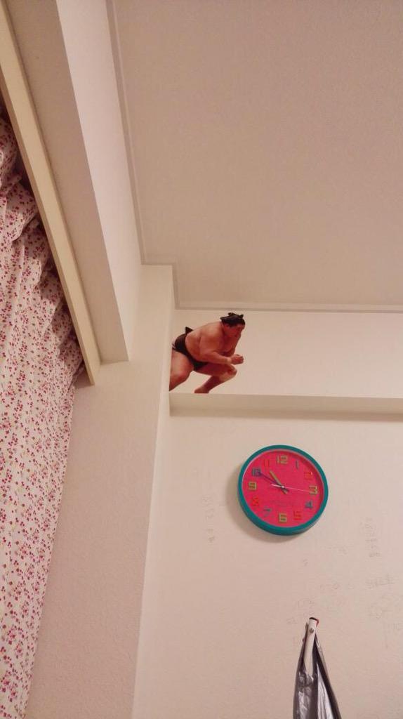 test ツイッターメディア - 大相撲カレンダーの使い終わったページを切り抜いて、私の部屋に力士を出現させることが母親のブームらしい 今月はベッドに寝転がって部屋の隅を見上げたら、豪栄道が立合いを始めていた。 . https://t.co/5ONO7STwcc