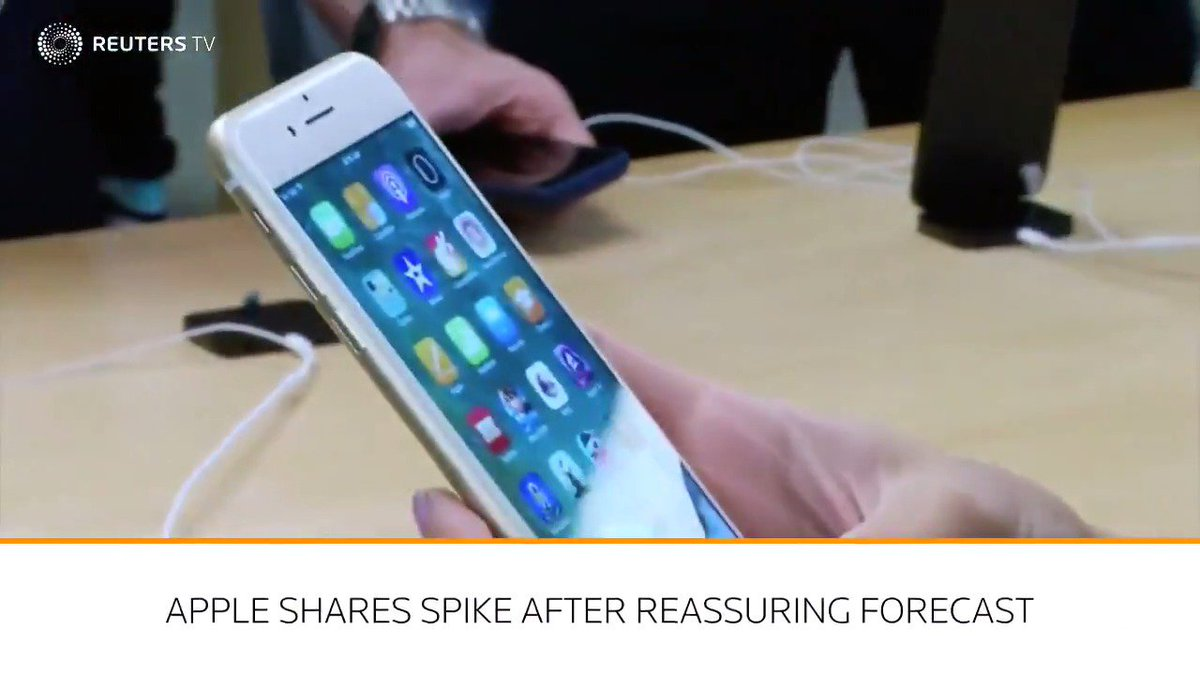 WATCH: Apple shares sail to record high on healthy iPhone sales via @ReutersTV