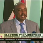 Government spokesman Eric Kiraithe calls on media to exercise self censorship during elections