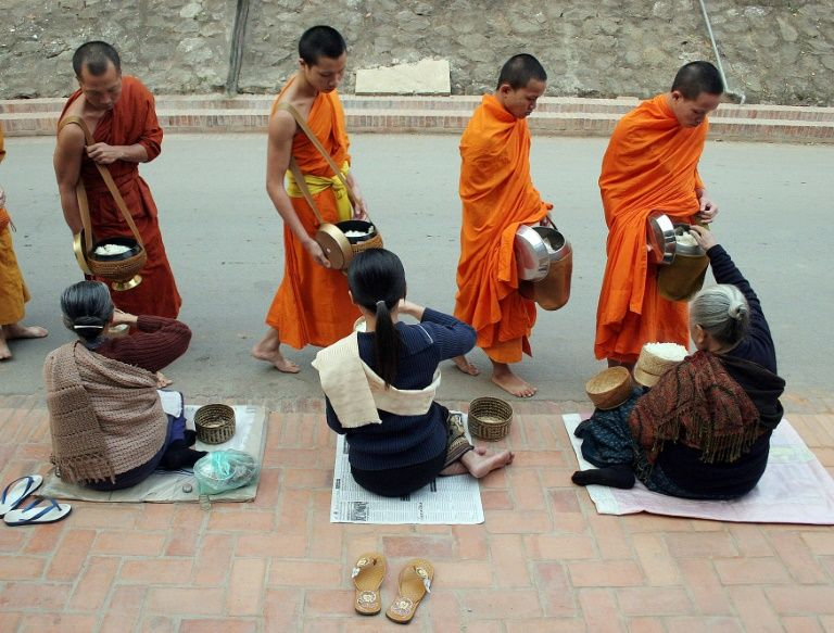 The Laos teens beating poverty as novice monks