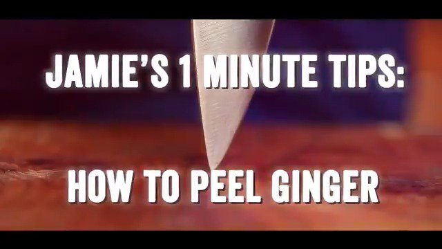 Peeling ginger is SO annoying, right? Wrong! Jamie shows you how it's done ???? https://t.co/XTUKXLILnc