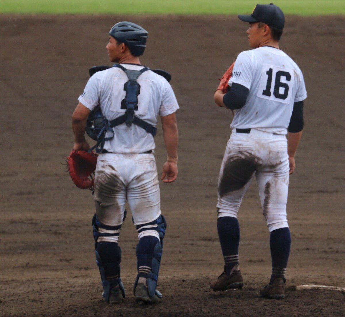 第99回全国高等学校野球選手権愛知大会  2017.7.23享栄藤江亮太投手中村奨之助捕手ベンチを見つめる‼︎#koko