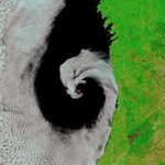 Cyclone 'Licks' Portugal Coast in Gorgeous Space Image