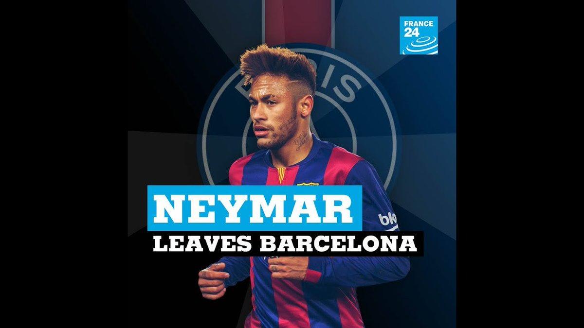 ?? Football: Neymar Jr leaves FC Barcelona
