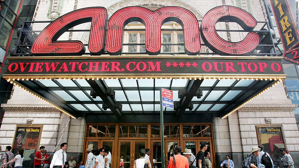 A drop in business at the box office is hurting the AMC movie theater chain