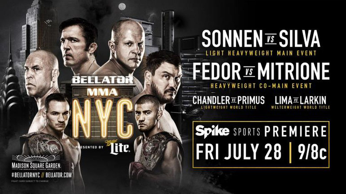 Bellator 180 ratings: 'Sonnen vs Silva' replay peaks at 934,000 viewers on Spike TV https://t.co/0simsh5oWe https://t.co/xaTWGovwZo