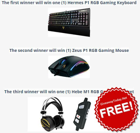 Win Gaming Gear Giveaway August 2017 - win giveaway rt freebies entertowin Sweepstakes htt