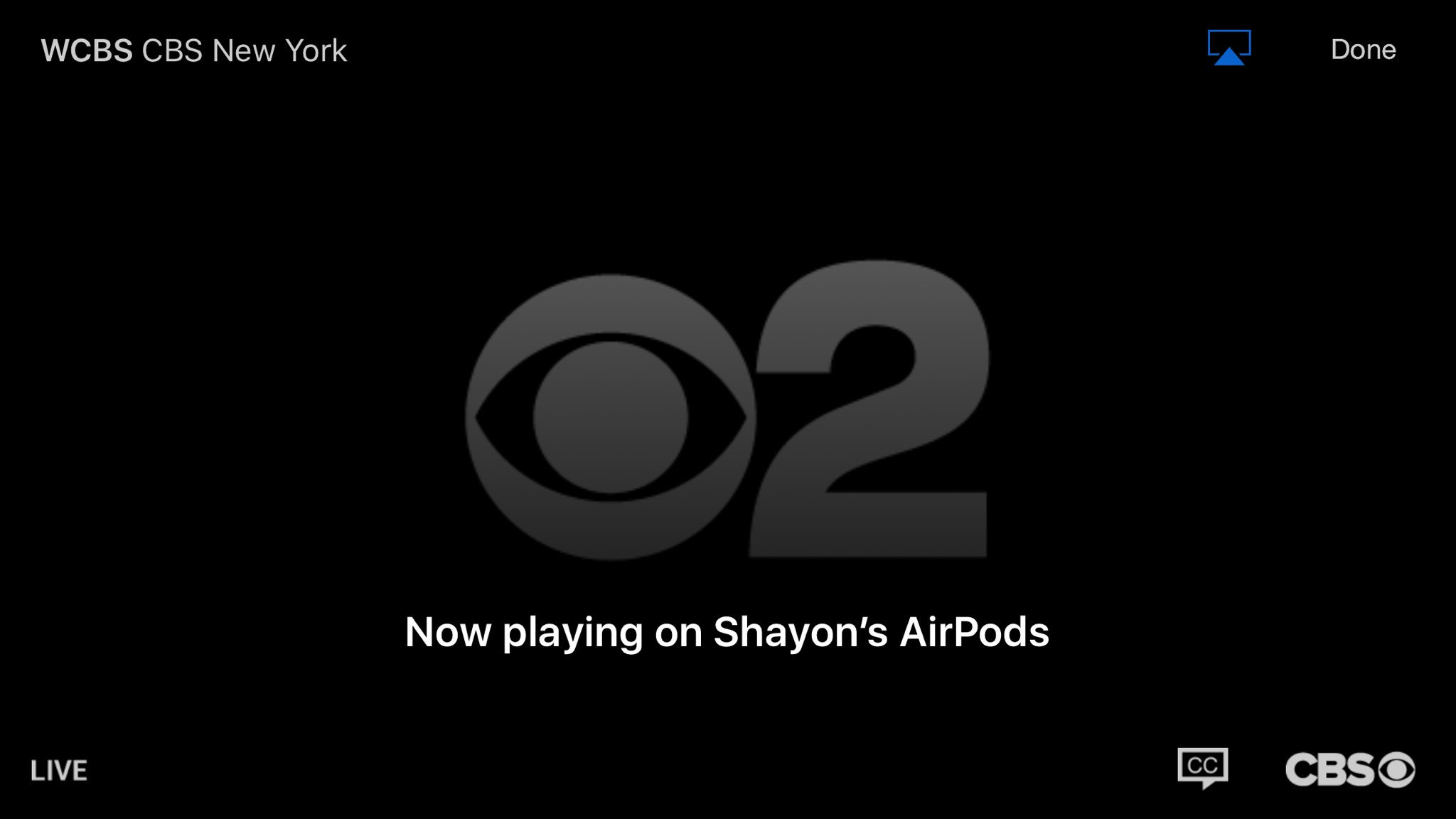 @CBSAAHelp What's wrong with your iOS app.I'm unable to watch live tv with my AirPods or Beats headphones on. https://t.co/YUC0ravGZn