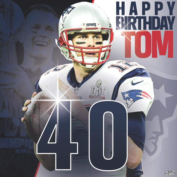 5 x Super Bowl Champion 4 x Super Bowl MVP 2 x NFL MVP  Happy 4  0  th Birthday, Tom Brady