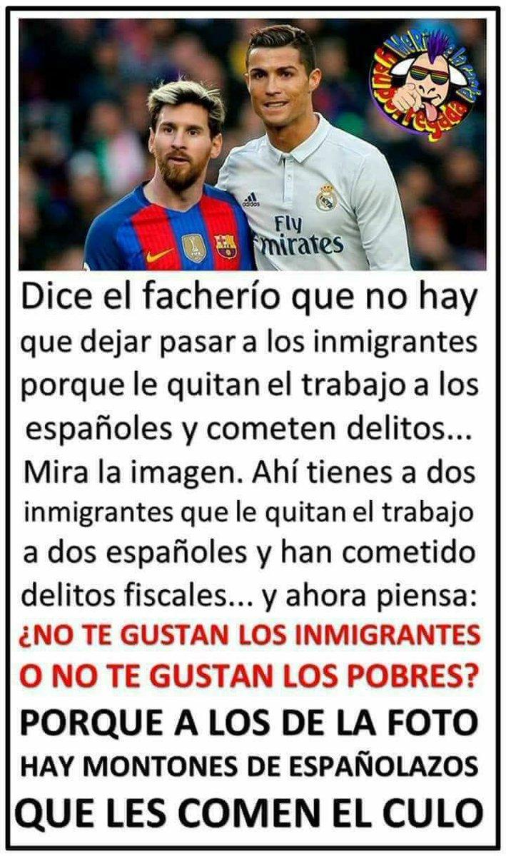 RT @CuleFer: El verdadero problema cuál es? No te gustan los inmigrantes o no te gustan los pobres? https://t.co/nhgMC0bU8D