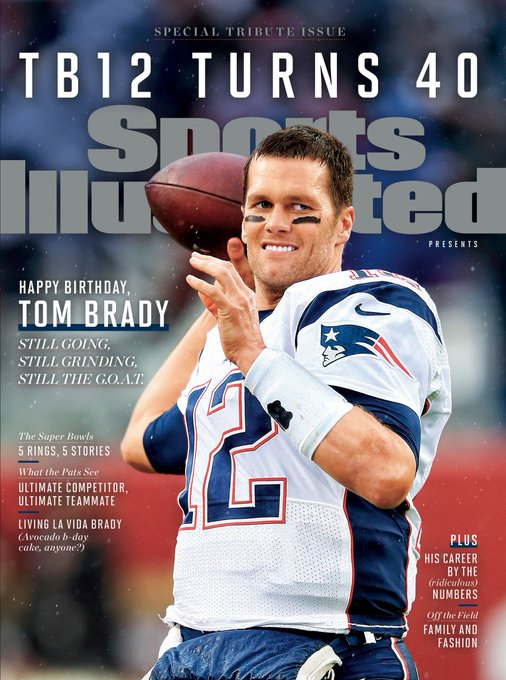 Lordy Lordy look who\s 40! Happy birthday Tom Brady!
