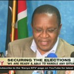 Ministry of Interior PS Karanja Kibicho assures Kenyans of their security during the elections