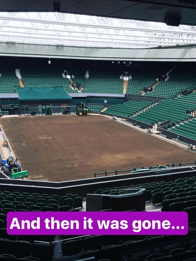 The green grass of @Wimbledon Centre Court is gone for 2017... https://t.co/CiDlQOJzRC