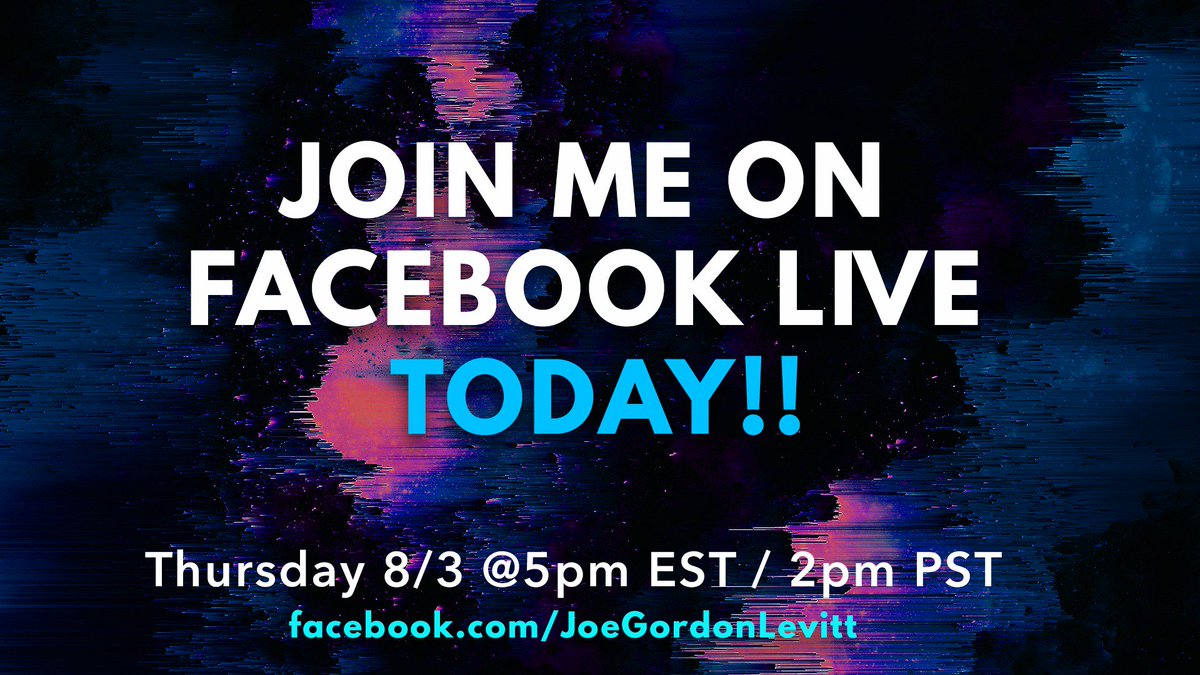 Jumping on good ol' Facebook Live at 5pm est / 2pm pst TODAY. Swing by here: https://t.co/u2T5Jc5lfE https://t.co/trsJW4VZr9