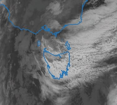 Cloud band assoc'd with low over Vic, brought...