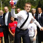 French president visits children at charity holiday program