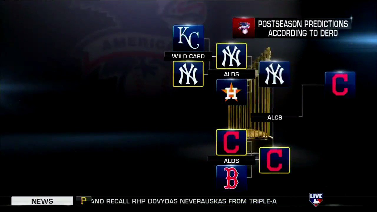 What does @MadDogUnleashed think of @markdero7's American League #Postseason predictions? #MLBCentral https://t.co/ohMo7ri1IW