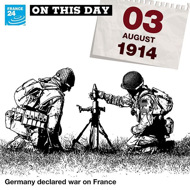 onthisday In 1914, Germany declared war on France