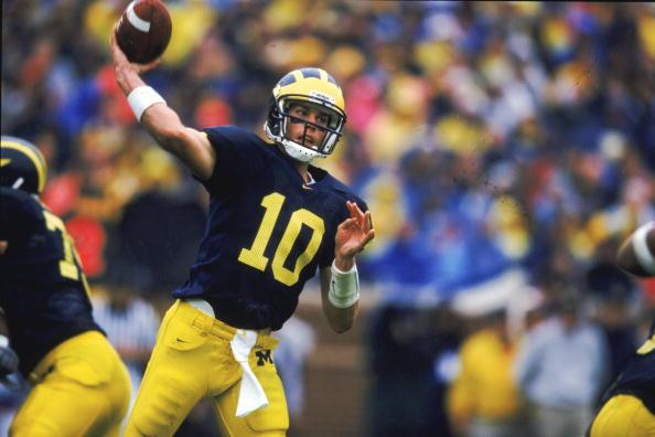 Happy 40th birthday to Tom Brady! to his days at Michigan.