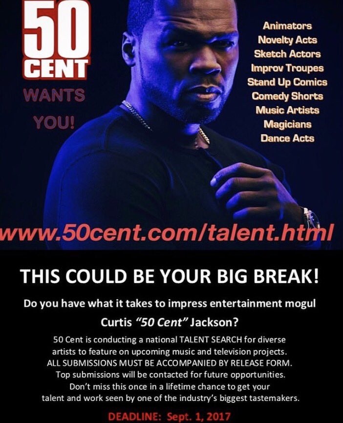 This could be your big break... Let's Go! #50CentralBET https://t.co/zLs6vjziIa