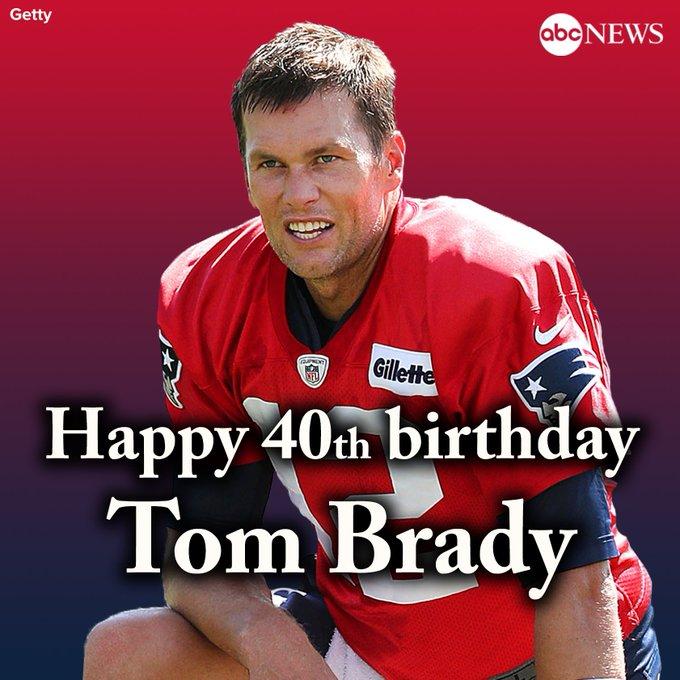 Happy 40th birthday to Super Bowl champion Tom Brady!   via ABC