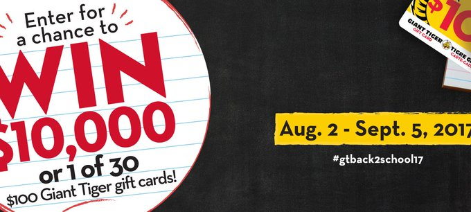#WIN a $1000 Giant Tiger gift card [9/05]