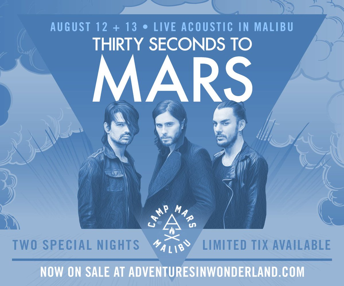 Hope to see you next week!! MARS in Malibu tix for Aug 12 + 13 now on sale!! https://t.co/P09O3KTSGb https://t.co/BFSsxaQDix