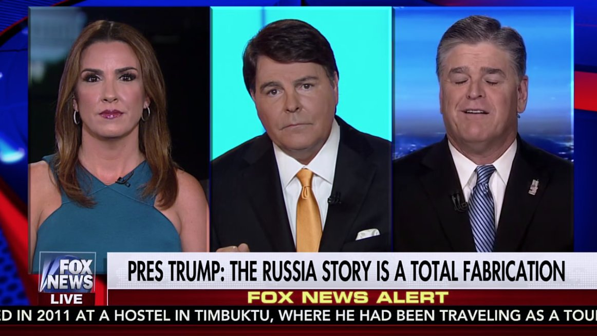 'Grand juries are an undemocratic farce,' Fox host Jarret backing up Hannity's attacks on grand juries. https://t.co/jghaQGkCsJ