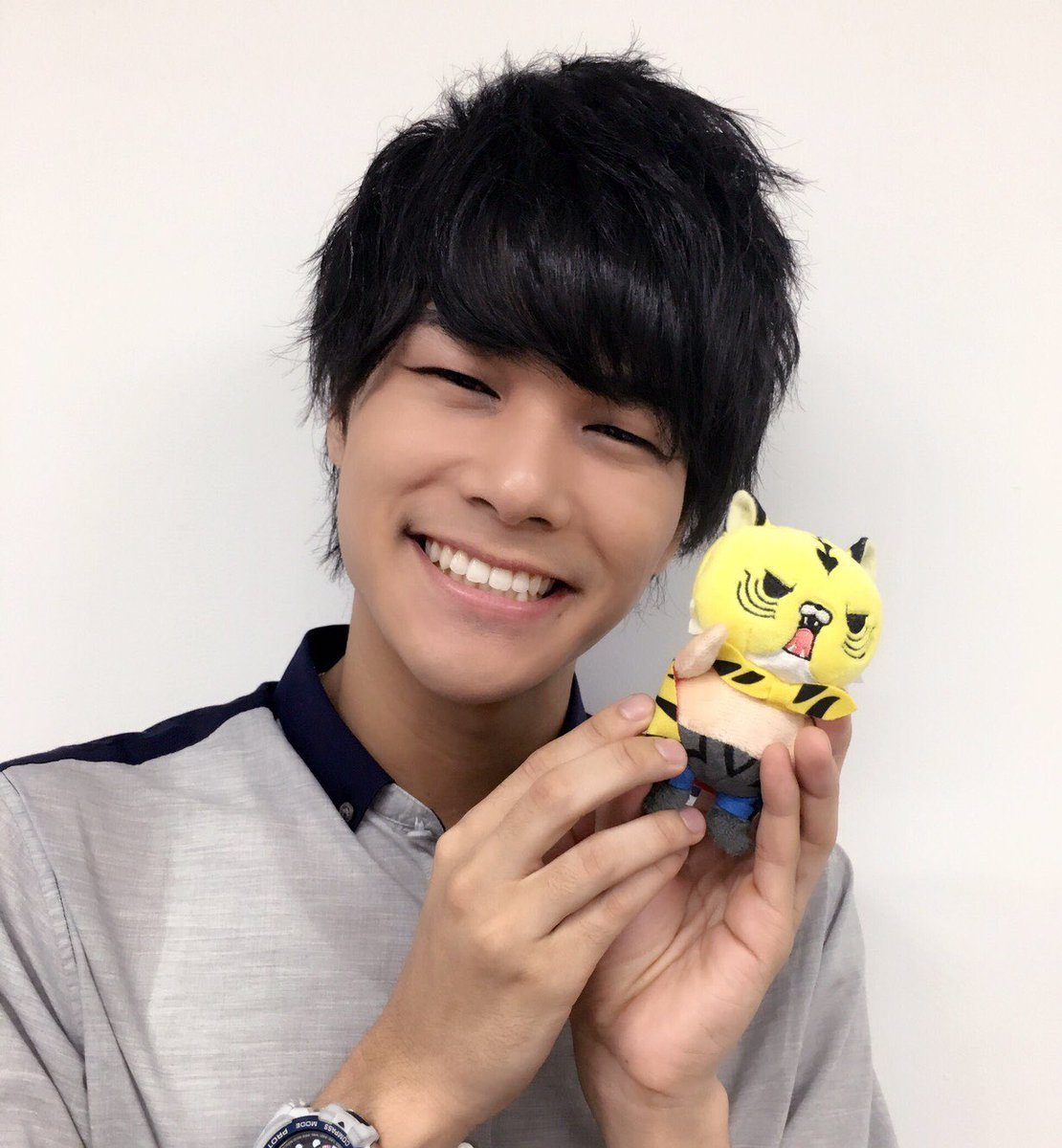 【グッズくじ】八代拓さんの手にもプリティな #タイガーマスクW のぬいぐるみが届きました。可愛いと思う方こちらのグッズく
