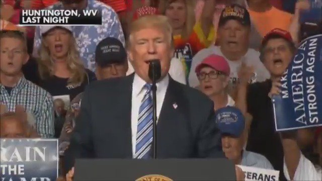 """WE WON BECAUSE OF YOU"": President Trump rallies supporters in West Virginia https://t.co/gPa02Lx59J"