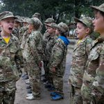 AP PHOTOS: Children in war-torn Ukraine learn the art of war