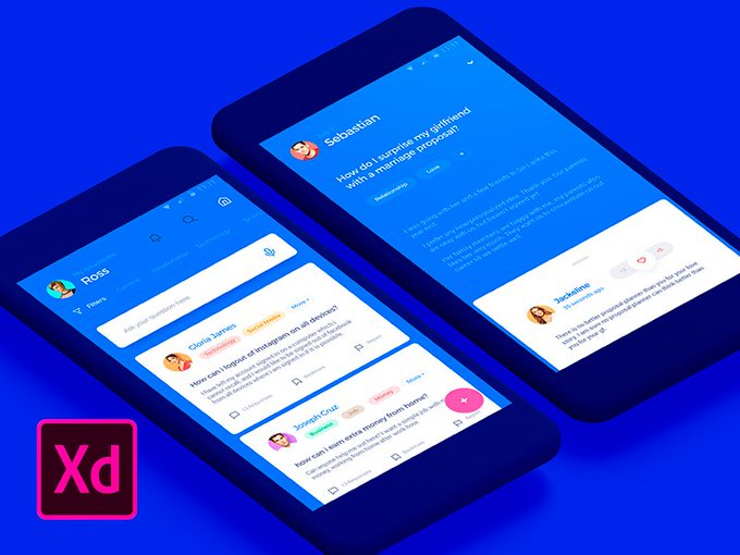 Answerly Adobe XD    Mockup by Sh_Aryana freebie