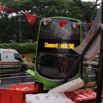 Bus crashes into lamp post near 321 Clementi, causes traffic jam