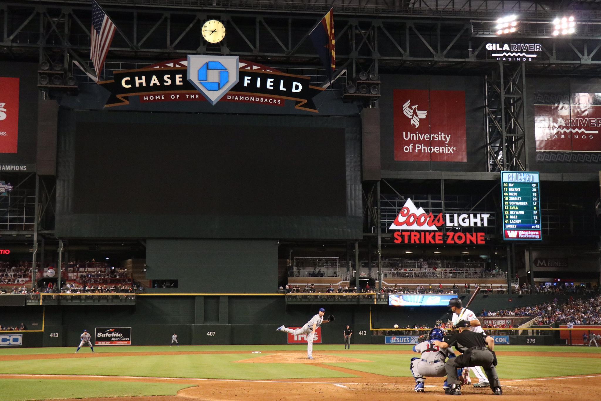 After five innings in the desert:  #Cubs 3, #Dbacks 2. https://t.co/y8iV6JkLVz https://t.co/IolZbLkN9f