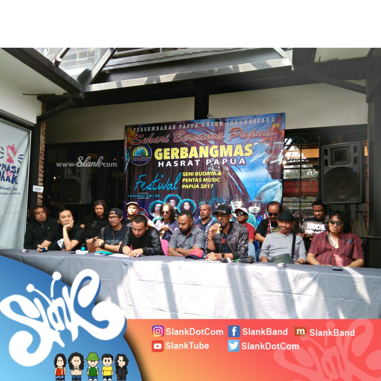 Konferensi pers acara Sehari Bersama Papua! Sampai ketemu MALAM NANTI di Lapangan Pussenif TNI AD, Bandung https://t.co/b353yIw4rW