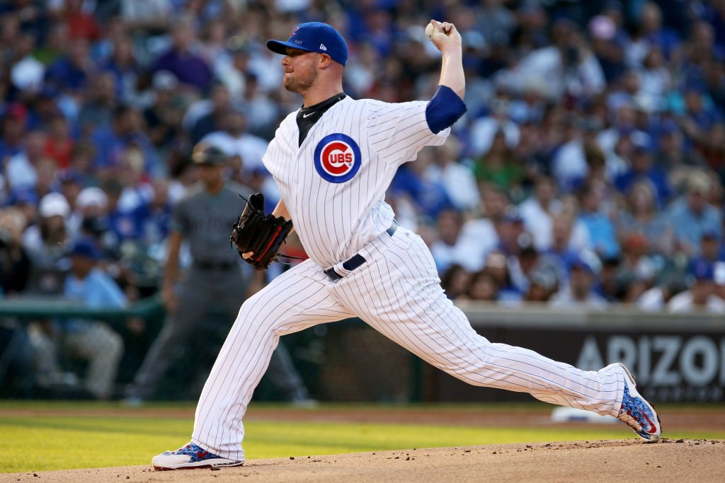 .@JLester34 goes for his ninth win when the @Cubs take on the @Dbacks at 8pE on #MLBNetwork! (or SF at WAS) https://t.co/nS98dUEBot