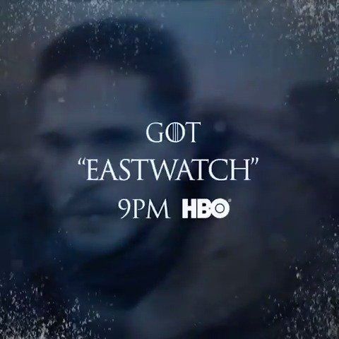 "Tonight. ""Eastwatch"" premieres at 9PM on @HBO. #GoTS7 https://t.co/rlqT3OsHHc"