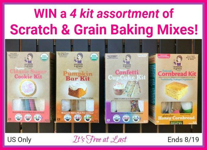 Scratch & Grain Baking Mixes Giveaway (8/19 US)