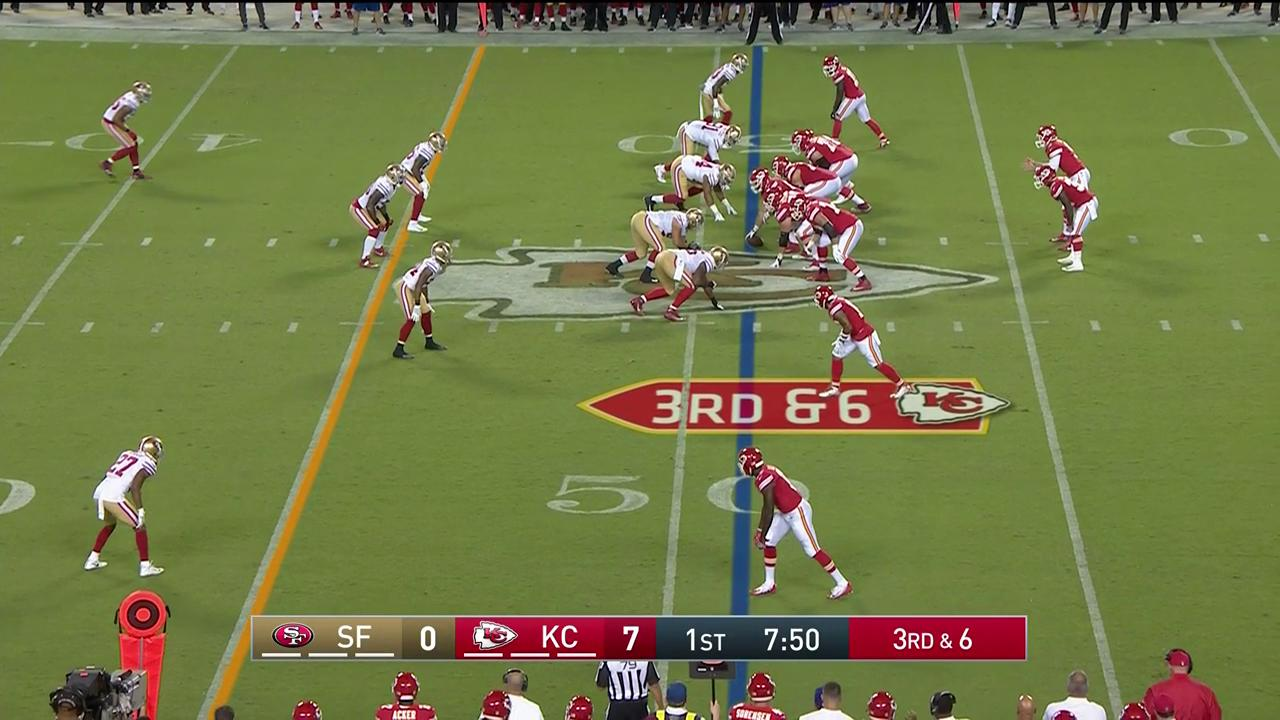 The pick that set up the @RobbieGould09 FG! #SFvsKC https://t.co/BVfxaTdusx