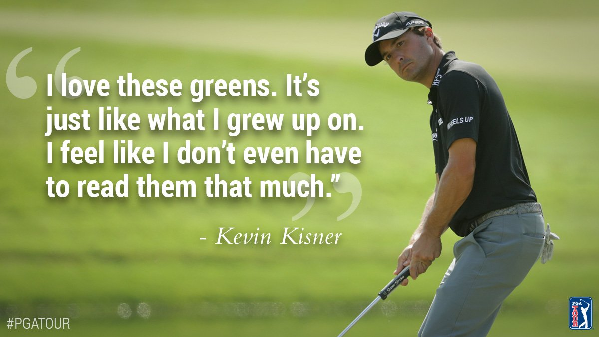 After 36 holes, Kevin Kisner feels right at home.  https://t.co/ICFqDVp2aa https://t.co/1QSRjmEcaG